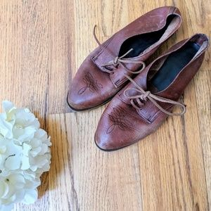 Vintage Brown Leather Oxfords
